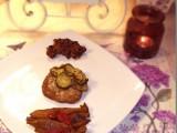 Seitan alle zucchine, bucce di fave ripassate al pomodoro e fagioli neri alla messicana